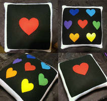 Double-sided Undertale throw pillow