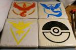 Pokemon Go drink coasters