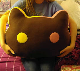 Giant Cookie Cat plush pillow