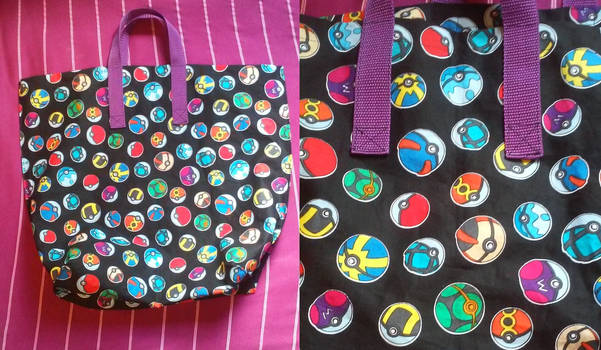 Pokeball tote bag