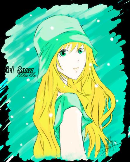 Girl manga . by Olalla-San