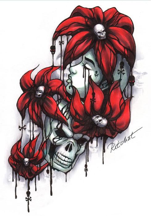 The Sorrow - flower tattoo