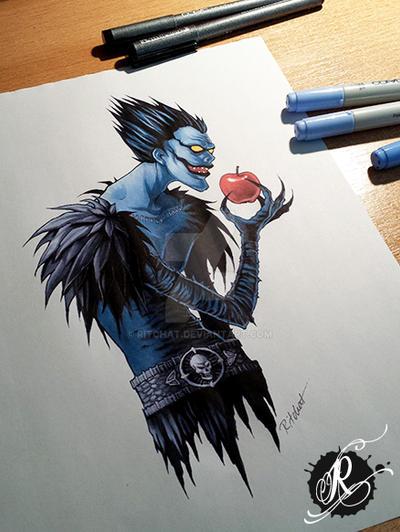 Ryuk Tattoodesign for Markus by ritchat
