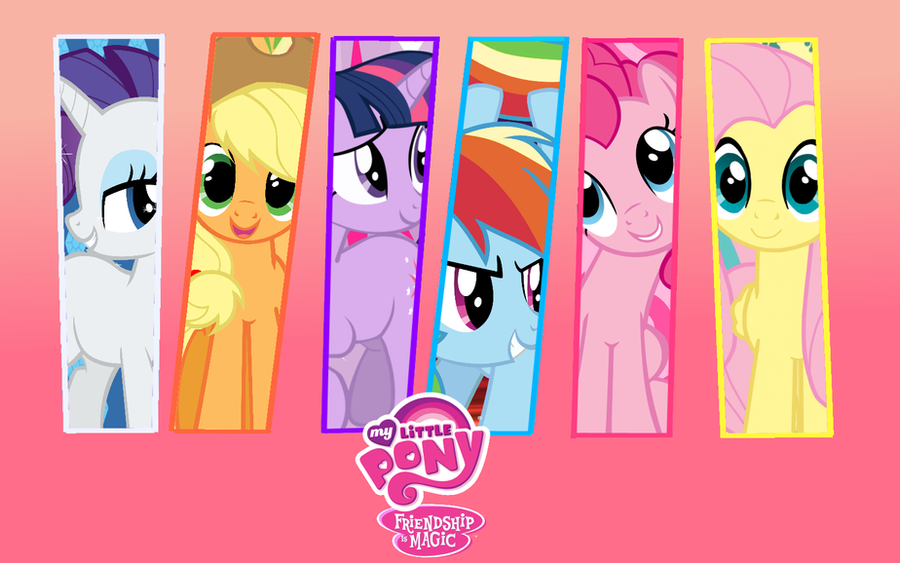 MLP Mane 6 Wallpaper by DeviantDalton