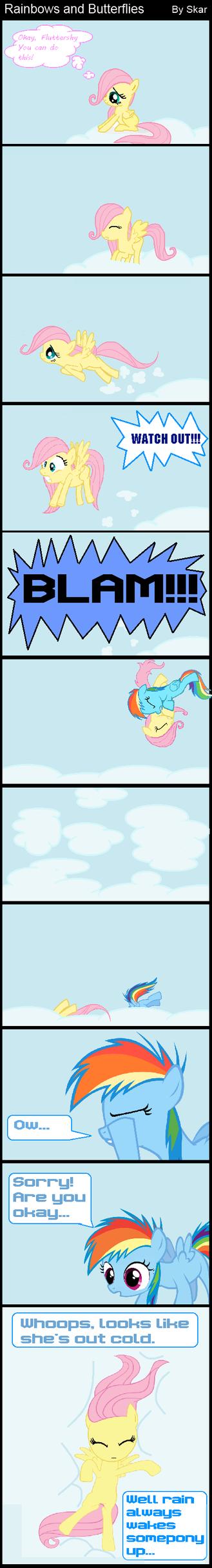 Rainbows and Butterflies (MLP FiM Comic) by DeviantDalton