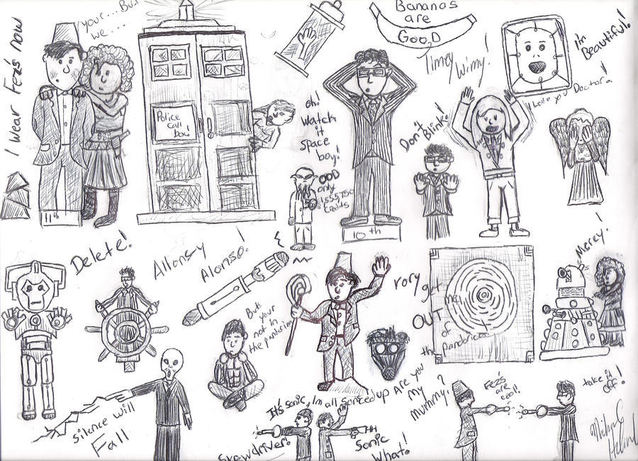 doctor who sketch dump by dftbavlogs on deviantart