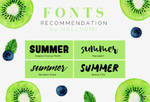 FONTS RECOMMENDATION: Summer