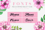 FONTS RECOMMENDATION: Flower