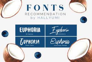 FONTS RECOMMENDATION: Euphoria