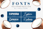 FONTS RECOMMENDATION: Euphoria