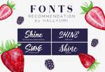 FONT RECOMMENDATION: Shine