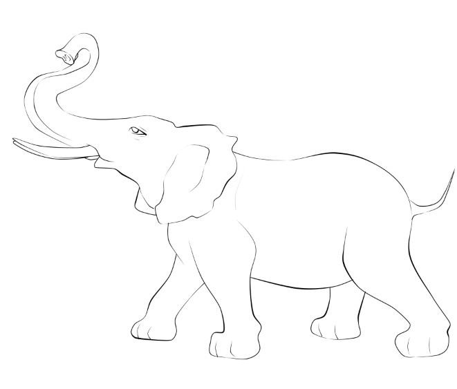 Line Art Elephant : Elephant line art by emilychristineleask on deviantart