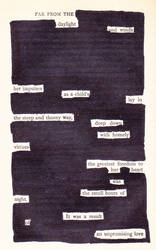 Blackout Poetry 3
