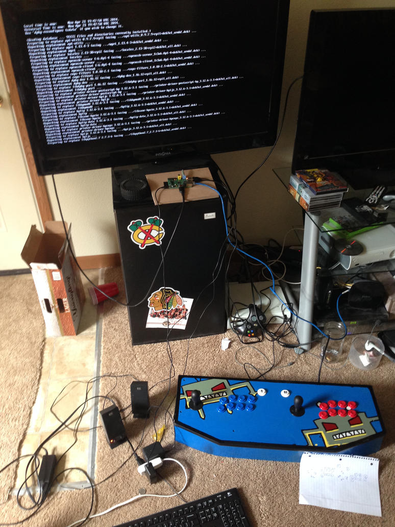 Raspberry pi ( Retropi OS ) with I-pac keyboard emulator