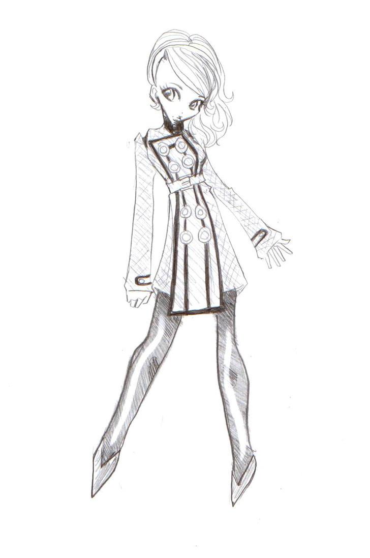 Persona 4- chibi Margaret by mewgirl16
