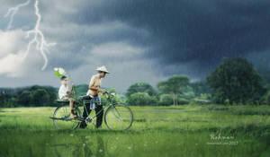 Bicycling in the Rain