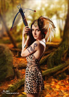 The Wild Huntress by kileuksa