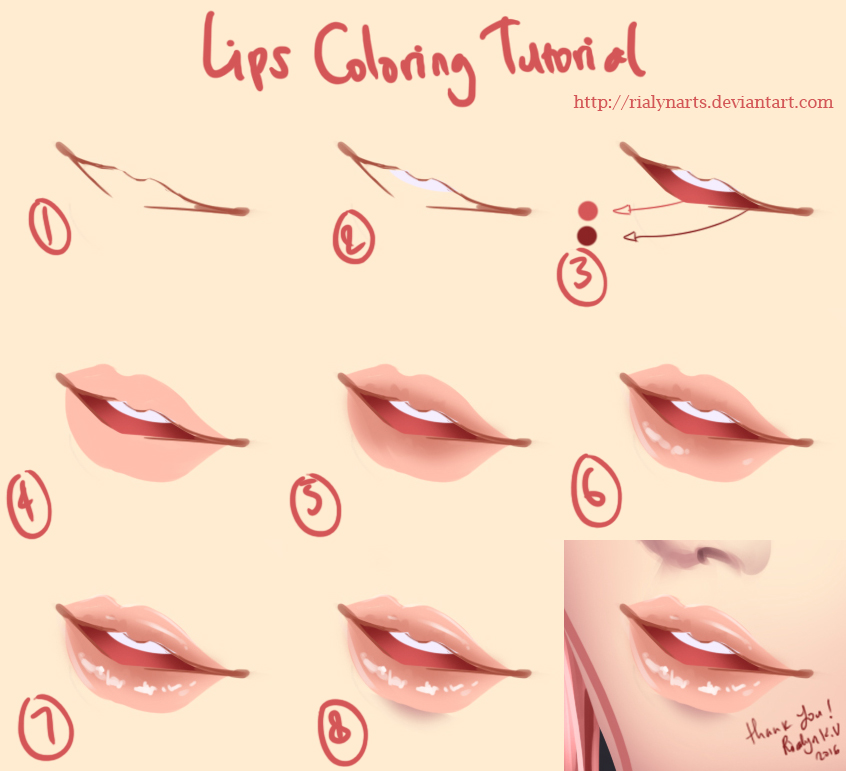 Lips Coloring Tutorial by rialynkv on DeviantArt