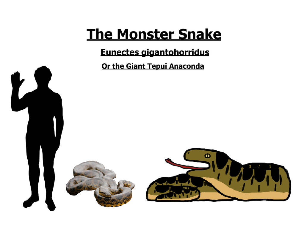 The Lost World fauna: the Giant Tepui Anaconda