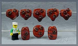 Chocolate Coffee Beans by AJGlass