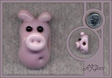 Glass Piggy by AJGlass