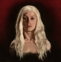 Daenerys Targaryan digital by RoseTheHobbit