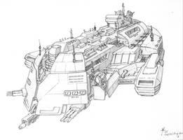 Capital ship Concept by SilverGinja