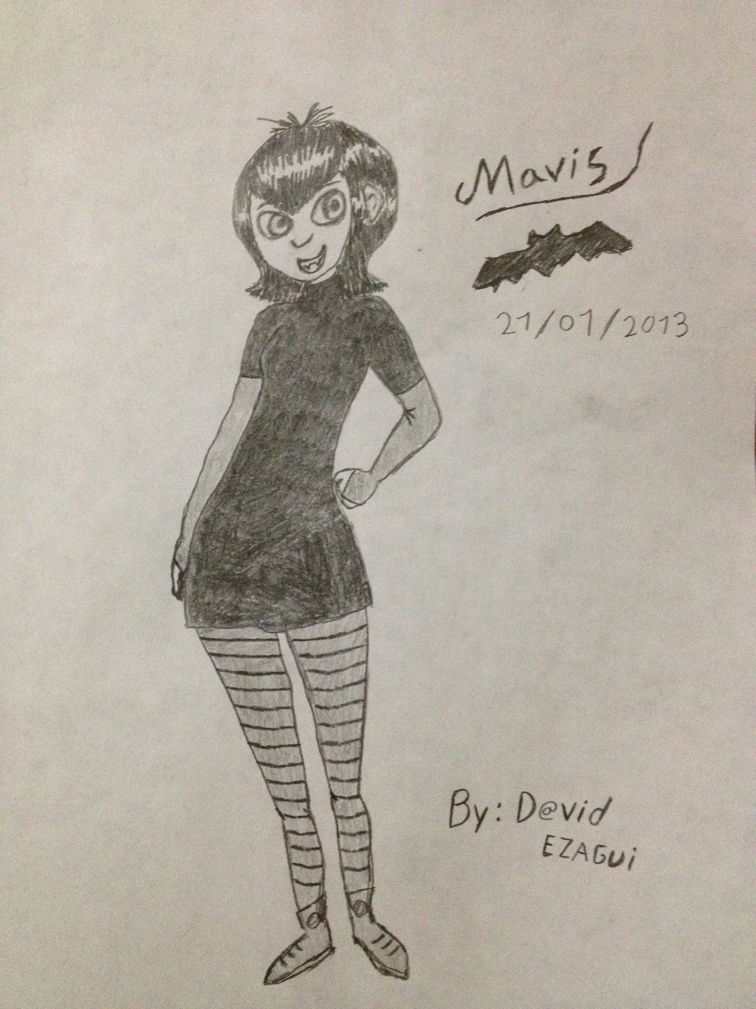 Mavis dracula - my drawing :3 by ezagui123