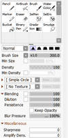 Blur Brush Settings for SAI 2