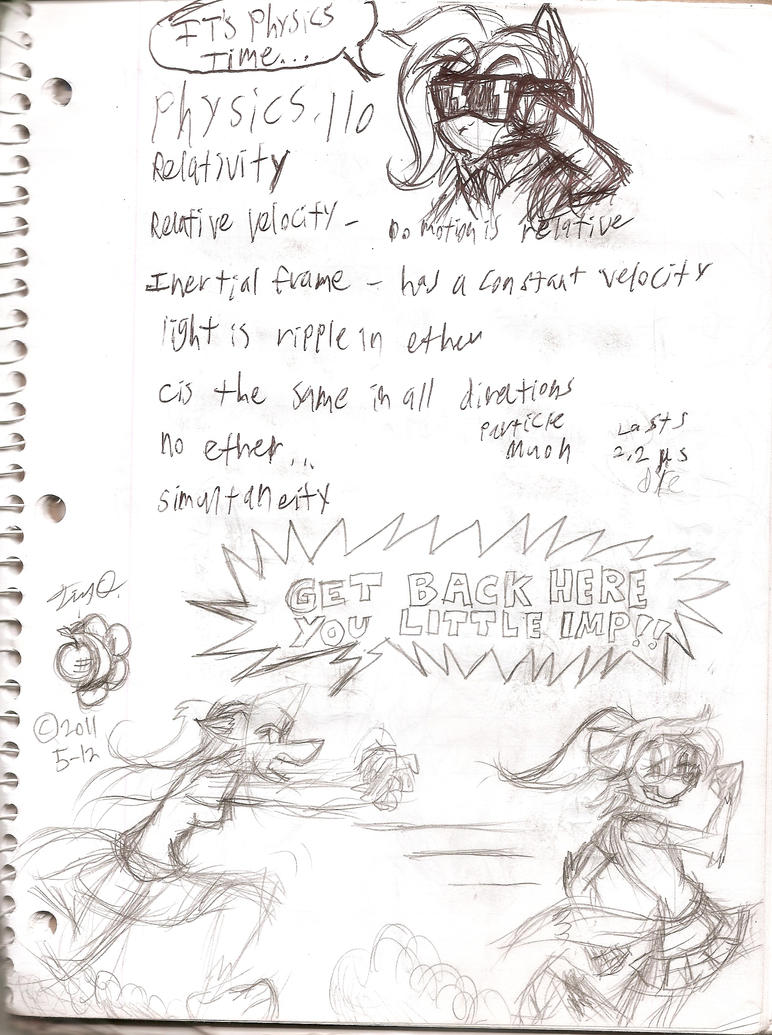 -Old Physics notes- Stacey and Nikki by Django90
