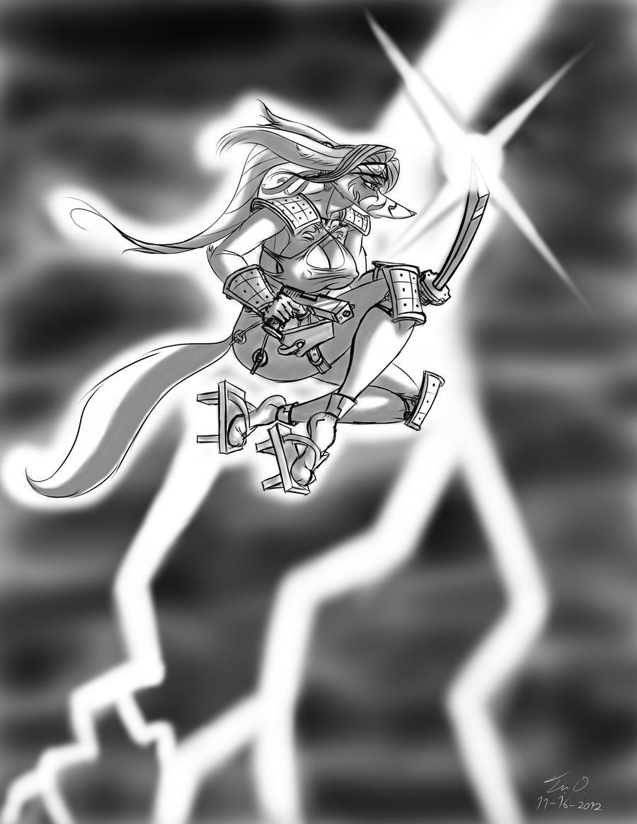 Gunslinging Ninjamurai Girl by Django90