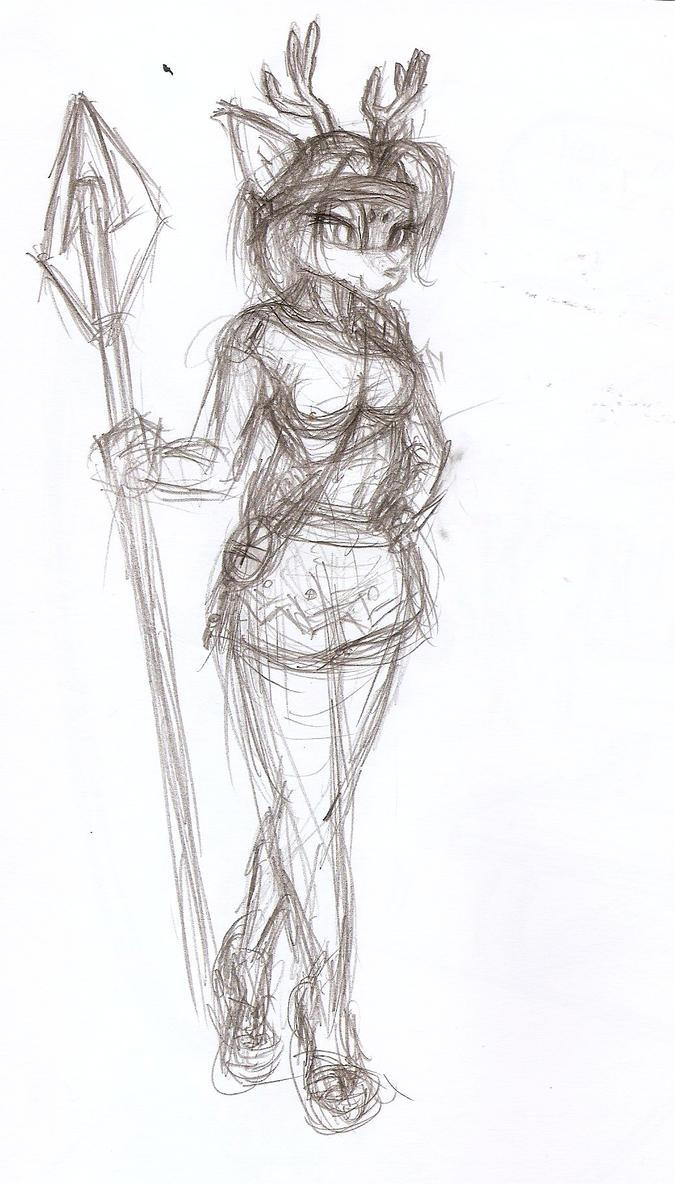 Deer Hunter -sketch- by Django90