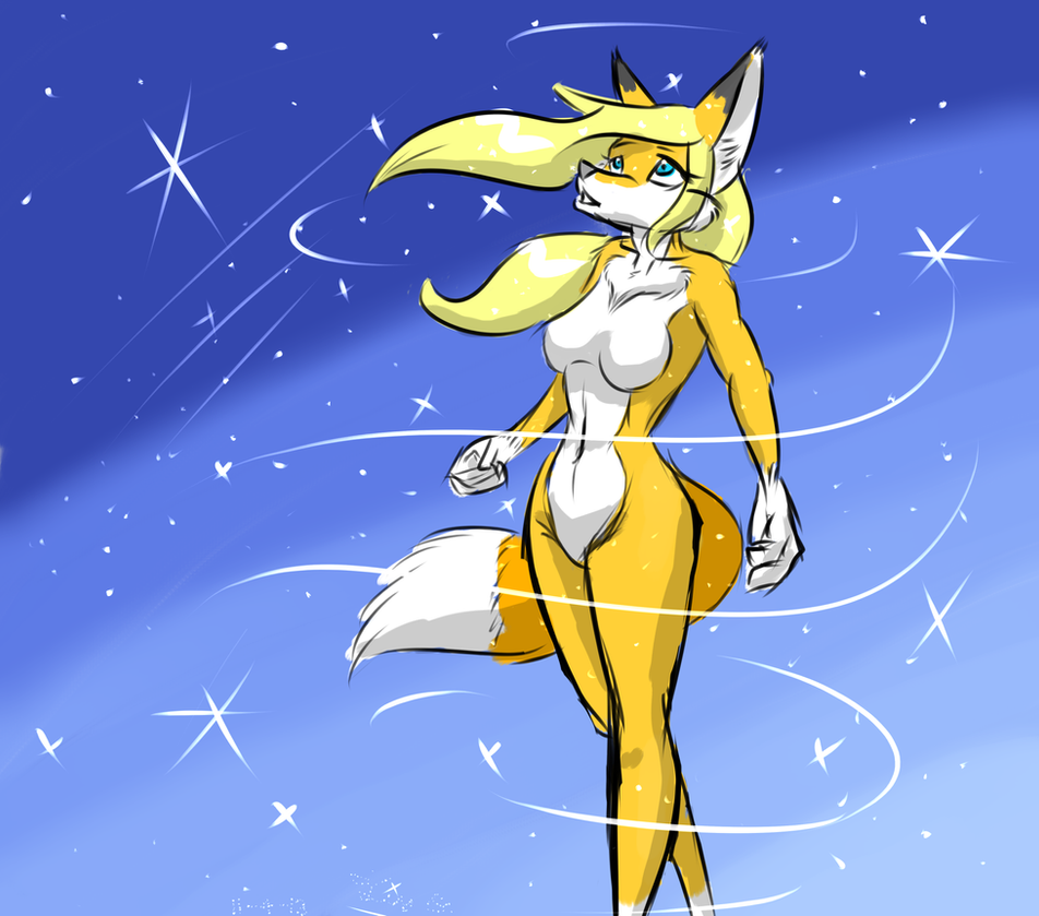 Starry Fox -Quick paint- by Django90