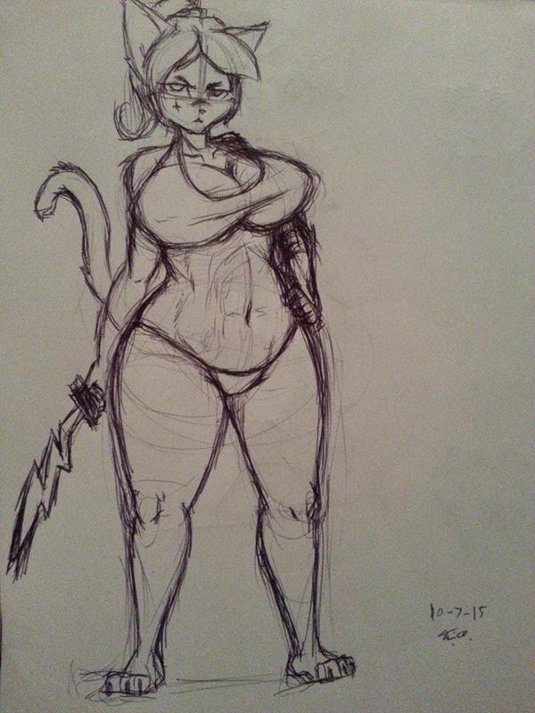 Battle Amazon Cat Bikini by Django90