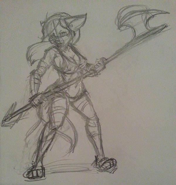 Battle Bikini Sketch by Django90