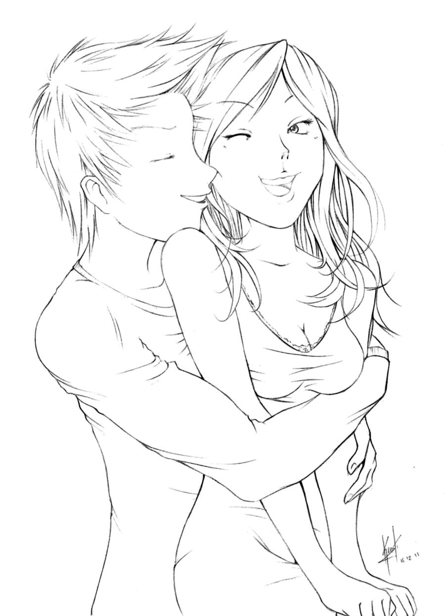 Sketch - Nose Kiss By DanielKendi On DeviantArt