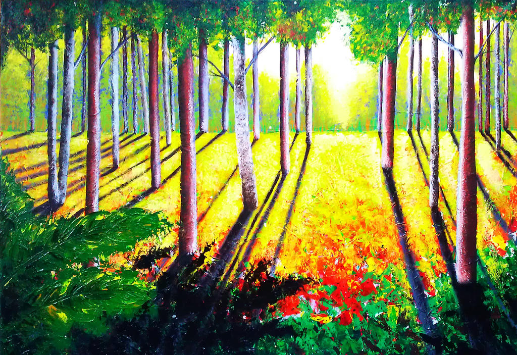 Wood autumn by dream artist exist on deviantart - The hideout in the woods an artists dream ...