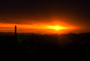 Colorful Sunset in Wuppertal by Janszoon