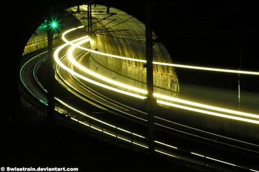 Through The Tunnel I by SwissTrain