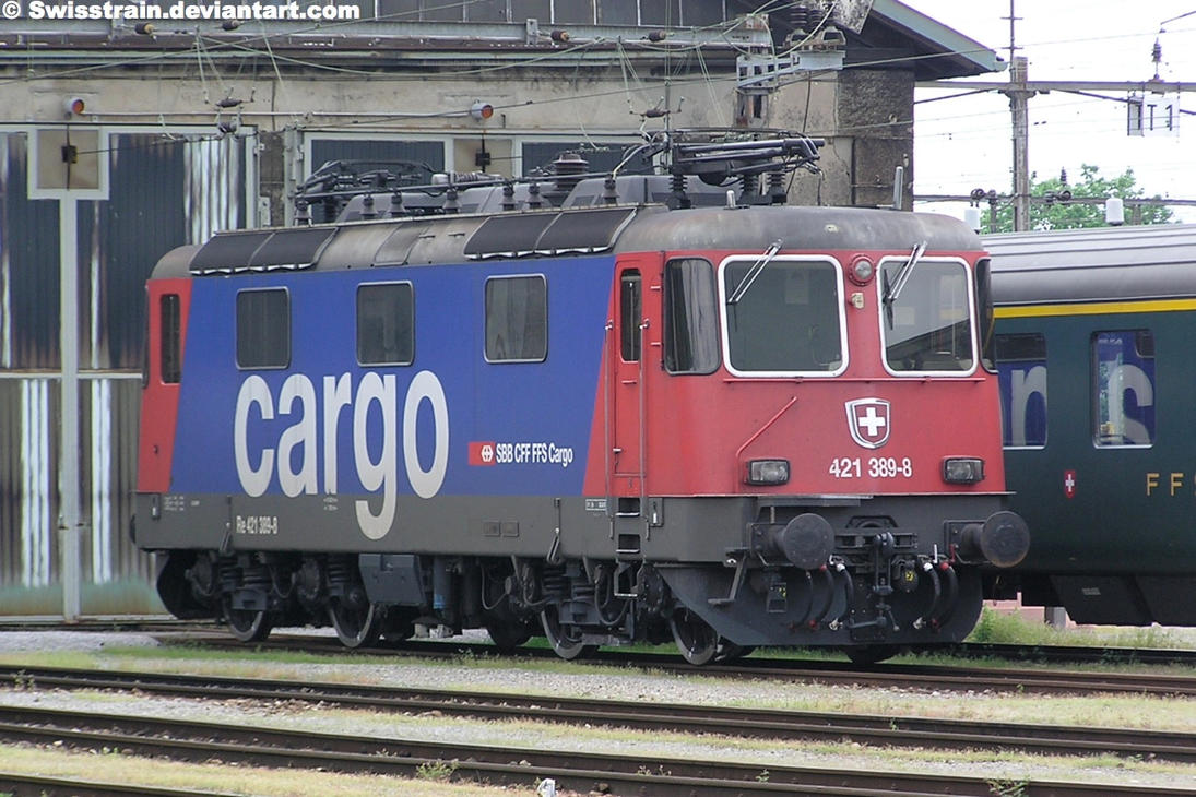 SBB Re 421 389-8 by SwissTrain