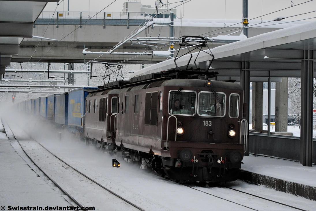 BLS Re 425 183 + 189 by SwissTrain