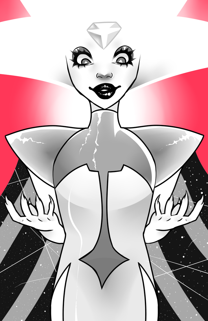 I have not watched Steven universe in a very long time, but White diamond and her reveal and design are determined to change that...