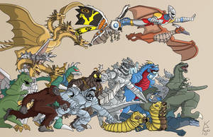 The Godzilla Universe-FunkYeti by TheDeviantMakepeace