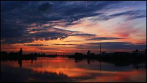 Bremen Harbor Sunset 9 by mar1anm