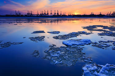 Elbe sunset by mar1anm