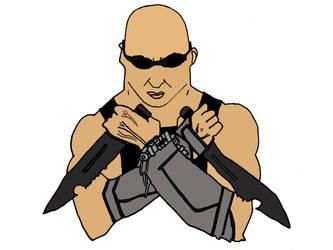 Riddick drawing by Demon-Kiba