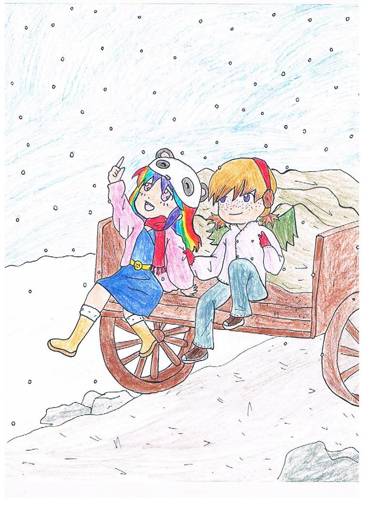 It's snowing by littlehobbitdancer