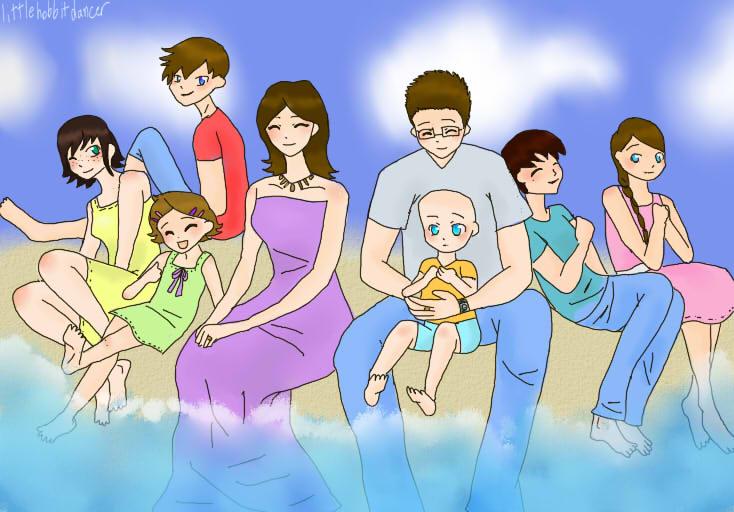 my family by littlehobbitdancer