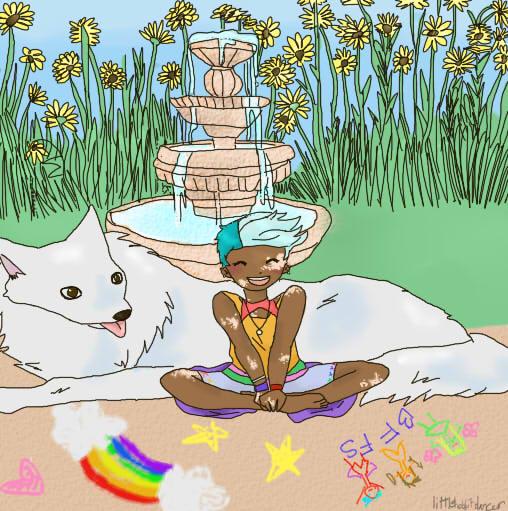 Iris and Cloud by littlehobbitdancer