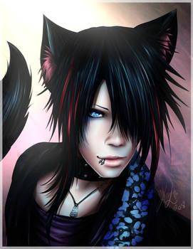 The GazettE - Aoi cat boy